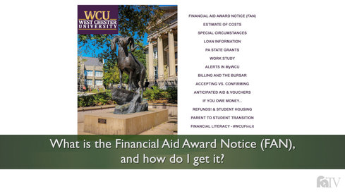Your Financial Aid Award Notice (FAN)