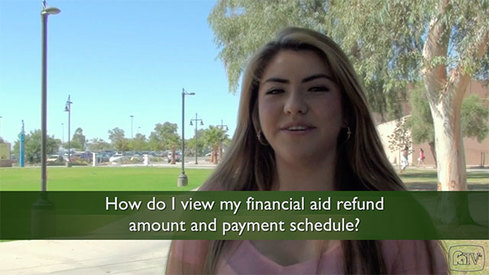 How do I view my financial aid refund amount and payment schedule?