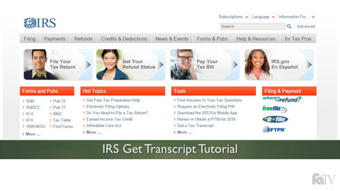 IRS Get Transcript Tutorial