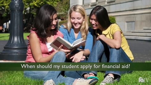 When should my student apply for Financial Aid?