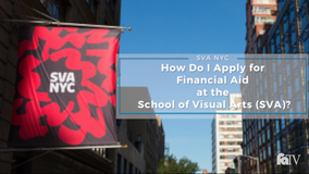 Are there merit scholarships at SVA, and how do I apply