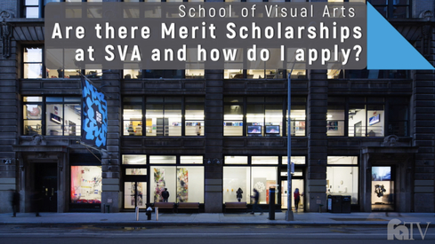 Are there merit scholarships at SVA, and how do I apply?