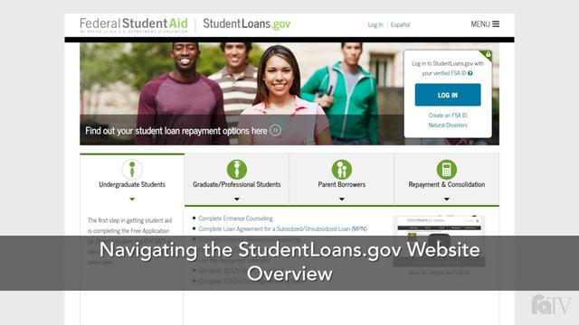 Navigating the StudentLoans.gov Website: Overview | Navigating the StudentLoans.gov Website ...