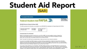 Thumbnail of Student Aid Report (SAR)