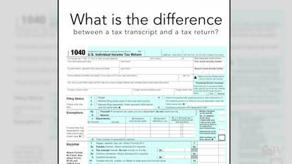 What is the difference between a tax transcript and a tax