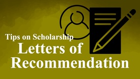 Thumbnail of Tips on Scholarship Letters of Recommendation