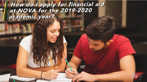 How do I apply for financial aid at NOVA for the 2019-2020 academic year?
