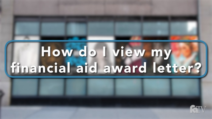 how do i view my financial aid award letter