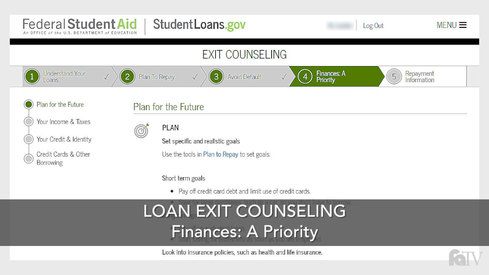 Loan Exit Counseling – Finances: A Priority