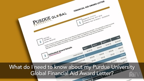 What do I need to know about my Purdue University Global Financial Aid Award Letter?