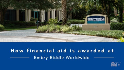 How financial aid is awarded at Embry-Riddle Worldwide?
