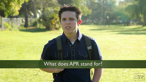 What does APR stand for?