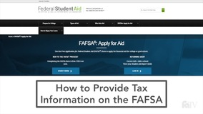 Financial Aid and Scholarships - Applying for Aid