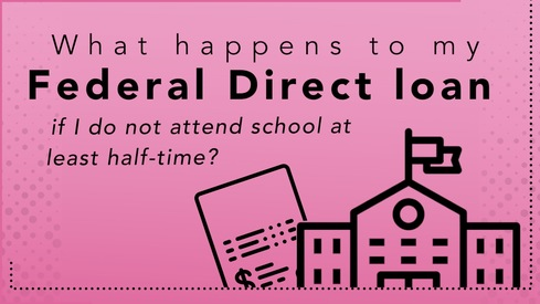 What happens to my Federal Direct loan if I do not attend school at least half-time?