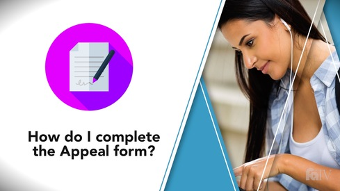 How do I complete the Appeal form?