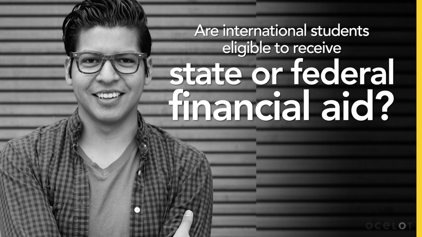 Trending Video Are international students eligible to receive state or federal financial aid?