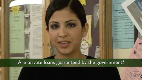 Are private loans guaranteed by the government?