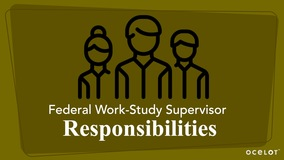 Thumbnail of Federal Work-Study Supervisor Responsibilities