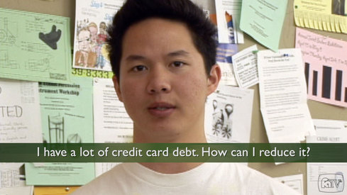 I have a lot of credit card debt. How can I reduce it?