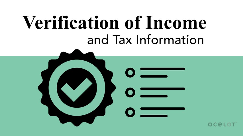 Trending Video Verification of Income and Tax Information