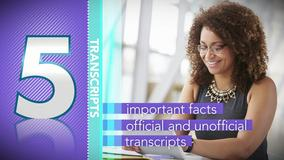 Thumbnail of A Minute to Learn It - 5 Things You Need to Know About Transcripts