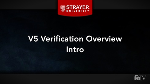2018-19 V5 Verification Overview