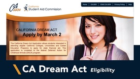 Thumbnail of California Dream Act Eligibility