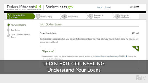 Loan Exit Counseling – Understand Your Loans