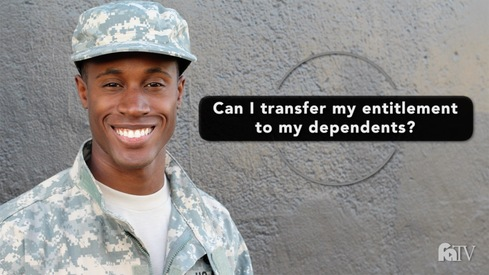 Can I transfer my entitlement to my dependents?