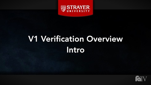 2018-19 V1 Verification Overview
