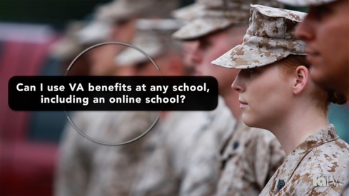 Can I use VA benefits at any school, including an online school?