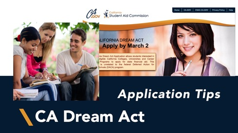 California Dream Act Application Tips