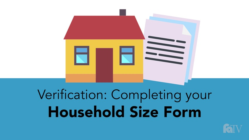 Trending Video Verification - Completing your Household Size Form.