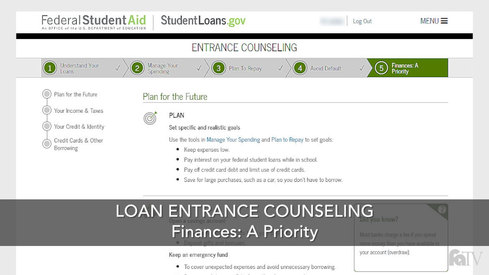 Loan Entrance Counseling - Finances: A Priority