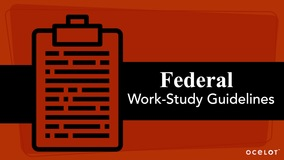 Thumbnail of Federal Work-Study Guidelines