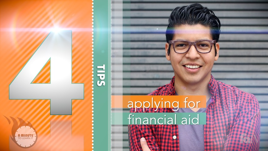 Trending Video A Minute to Learn It - Applying for Financial Aid