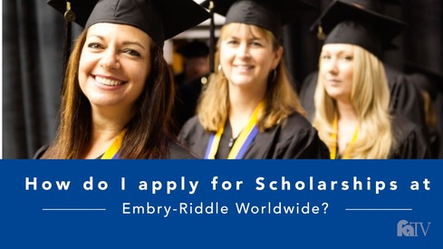 How do I apply for scholarships at Embry-Riddle Worldwide?