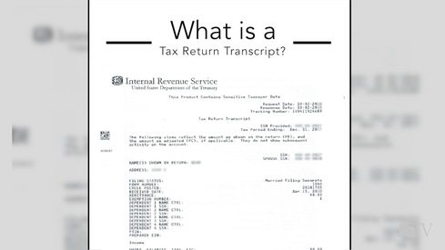 What is a tax return transcript?