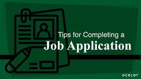 Thumbnail of Tips for Completing a Job Application