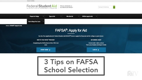 3 Tips on FAFSA School Selection