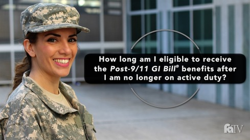How long am I eligible to receive the Post-9/11 GI Bill ® benefits after I am no longer on active duty?