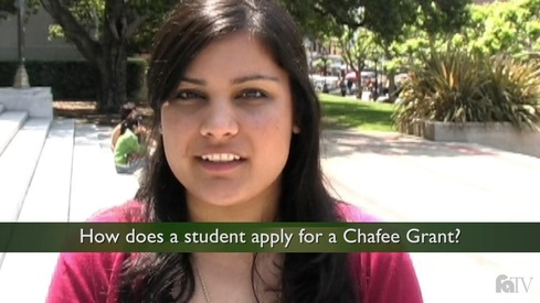 How does a student apply for a Chafee Grant?
