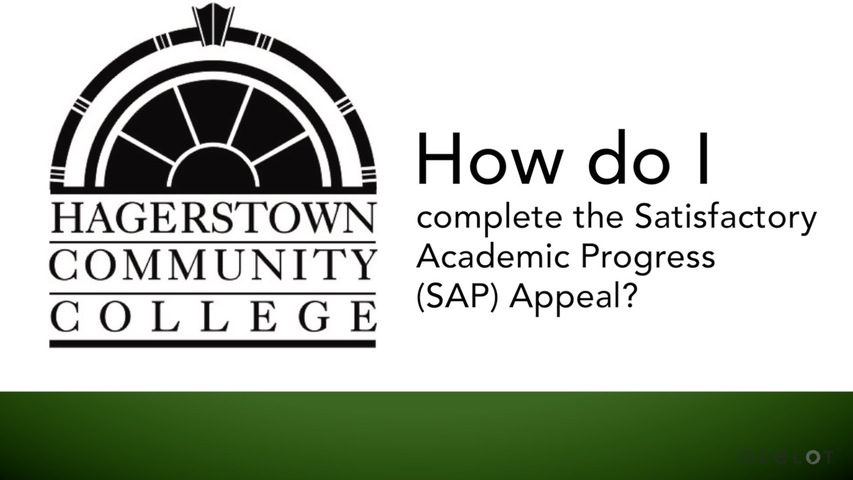 Trending Video How do I complete the Satisfactory Academic Progress (SAP) Appeal?