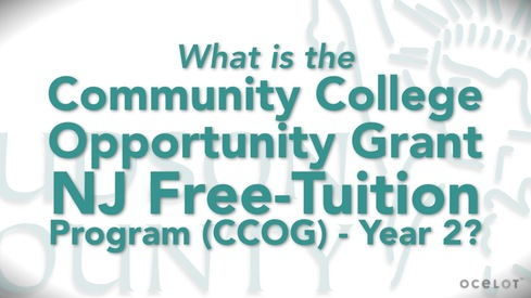 What is the Community College Opportunity Grant NJ Free-Tuition Program (CCOG) - Year 2?
