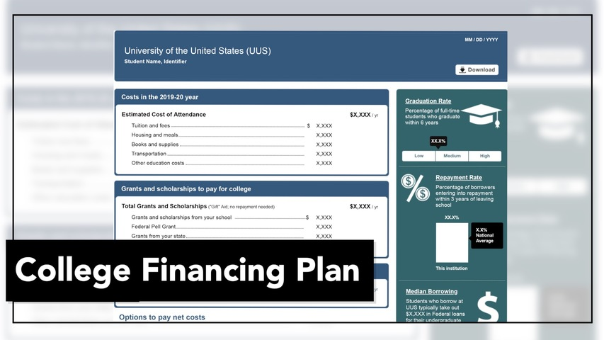 Trending Video College Financing Plan