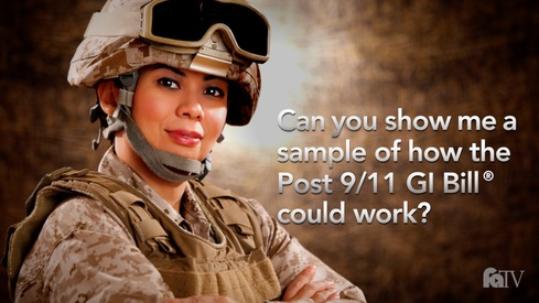 Can you show me a sample of how the Post 9/11 GI Bill ® could work?