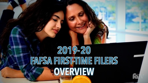 2019-20 FAFSA First-Time Filers - Overview