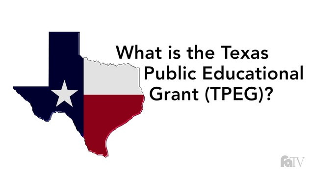 What is the Texas Public Educational Grant (TPEG)?