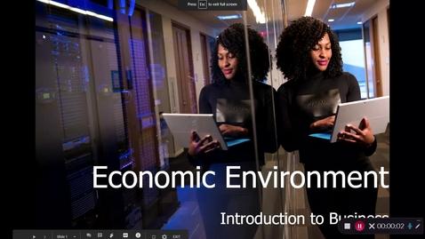 Thumbnail for entry BA 101A Ch. 2 Economic Environment