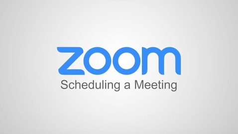 Thumbnail for entry Scheduling a Meeting.mp4